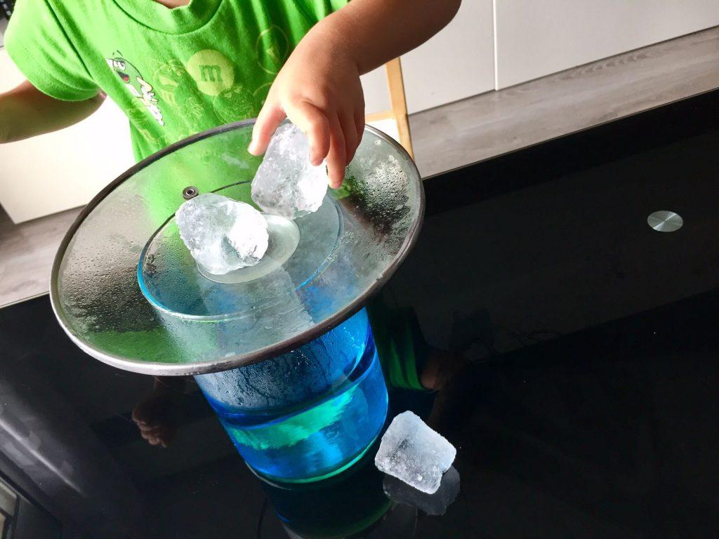 experimento agua niños