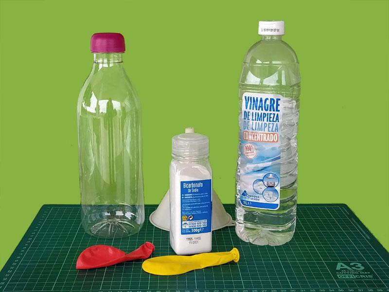 Materiales necesario para el experimento del globo que se infla solo